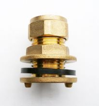 Brass 15 mm Compression Tank Connector